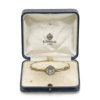 335. a rare russian gold, diamond, and enamel imperial presentation bracelet, morozov, st. petersburg, 1908-1917 |