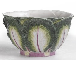 15. a chelsea porcelain cabbage leaf bowl circa 1755