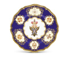 Preview. a porcelain plate from the tsar nicholas i service, coalport, england, circa 1845 |