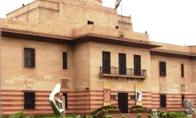 Exterior view of NGMA, New Delhi.