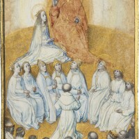 11. the coronation of the virgin, by the master of the houghton miniatures [ghent, c.1480]