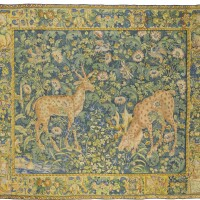 8. a flemish verdure tapestry with animals, enghien, last quarter 16th century