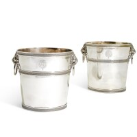 11. a pair ofitalian silver wine coolers, guadagni family, florence, early 19th century |