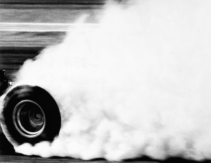 Steve Banks, Winter Nationals, 1966 from Nitro, Drag Racing in Southern California 1964-66, gelatin silver print.jpg