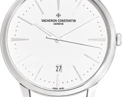 42. vacheron constantin | patrimony astainless steel wall clock with date, circa 2000