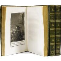 7. [heloise et abelard]. lettres d'héloïse et d'abailard. paris, s.d. 1796. 3 volumes in-4. maroquin vert de l'époque.
