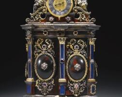 36. a silver mounted turtleshell tabernacle clock, jacob mayr, augsburg, circa 1700,