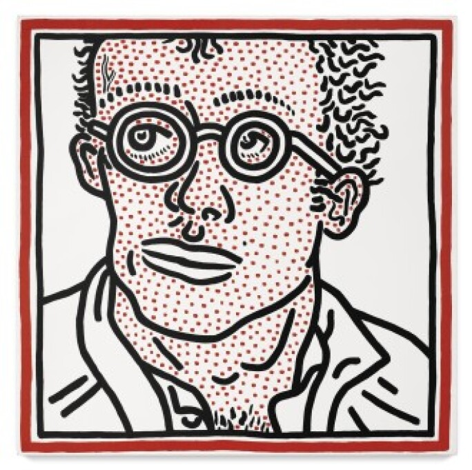 Keith Haring self-portrait
