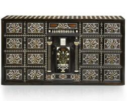 1. a north italian bone, ebony and mahogany parquetry cabinet 17th century and later