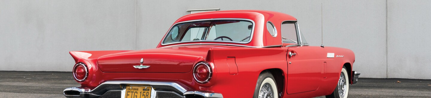 1957 Ford Thunderbird car in an auction selling vintage cars