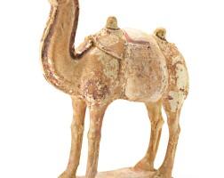 319. 唐初 陶加彩駱駝  