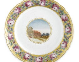 33. a russian porcelain plate from the dowry service of grand duchess alexandra pavlovna, imperial porcelain manufactory, st. petersburg, 1795-1796