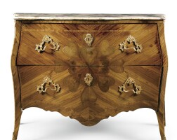 10. an italian gilt-bronze-mounted tulipwood, kingwood and parquetry commode, genoese mid 18th century