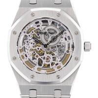 226. 愛彼(audemars piguet) | 15136型號「royal oak boutique edition」限量版精鋼鏤空鍊帶腕錶,年份約2007。