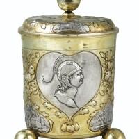 5. grand gobelet couvert en argent et vermeil, par simon wickert, augsburg, 1689-1692,