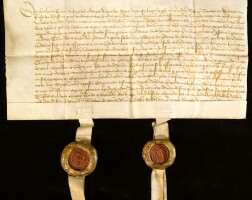 11. a large collection of scottish charters and documents, in early scots and latin, on vellum and paper