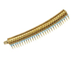 20. gold and turquoise bracelet
