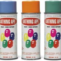 3. bape x stash | spray paint cans (set of five)