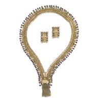 325. 寶石配鑽石「zip」首飾套裝, 梵克雅寶(van cleef & arpels)