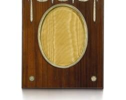 340. a fabergé silver-gilt and wood frame, workmaster hjalmar armfelt, st petersburg, 1904-1908