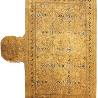 1. a double-sided frontispiece page from a qur'an, the illumination signed by muhammad ibn uthman ibn al-husayn, seljuk, zangidor ayyubid, late 12th/early 13th century ad