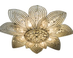 18. a glass, metal and crystal chandelier by maison baguès, circa 1920 |