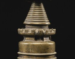 702. abronze stupa tibet, 13th century