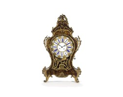 28. a french louis xv-style gilt bronze mounted bracket clock, mid 19th century