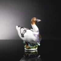 38. a meissen figure of a mallard duck circa 1740