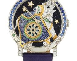 40. boucheron | jungle hathi a white gold, diamond and tsavorite wristwatch with gem-set elephant dial, circa 2011