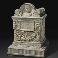 42. a roman marble cinerary urn inscribed forlucius calvinus pubianus sabinus, circa late 1st century a.d., engraved and restored by gianbattista piranesi (1720-1778)   a roman marble cinerary urn inscribed forlucius calvinus pubianus sabinus