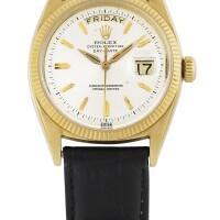 190. 勞力士(rolex) | 6611 b型號「day-date」黃金腕錶備星期及日期顯示,年份約1959。