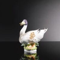 37. a meissen figure of a mallard duck circa 1750