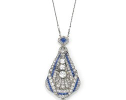 6. diamond pendent-watch, 1930s