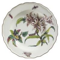 3. a chelsea porcelain 'hans sloane' botanical soup plate circa 1755