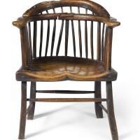 7. primitive school, 18th century | comb-back armchair