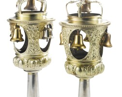 157. a pair of german silver-gilt torah finials, lazarus posen, frankfurt-am-main, circa 1900