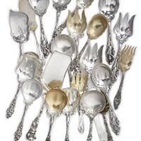 36. a group of american silver servers, circa 1900  