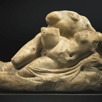 47. a roman marble group of two lovers, circa 1st/2nd century a.d.