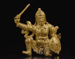 326. 大理國 十至十二世紀 銅鎏金天王像 |