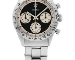 39. 勞力士(rolex) | 6239型號「paul newman daytona」精鋼計時鍊帶腕錶,年份約1968。