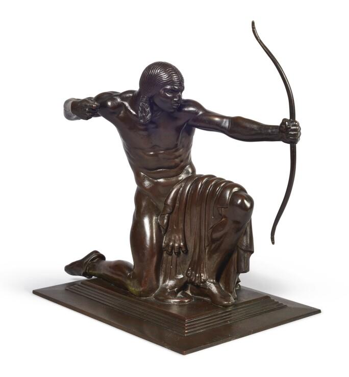 Paul Manship, Indian Hunter, bronze, 12.3/4 in. high. Estimate $150,000-250,000