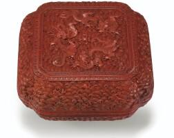 47. boîte couverte en laque rouge sculpté dynastie qing, époque qianlong