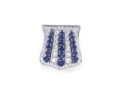 11. sapphire and diamond clip brooch, 1930s