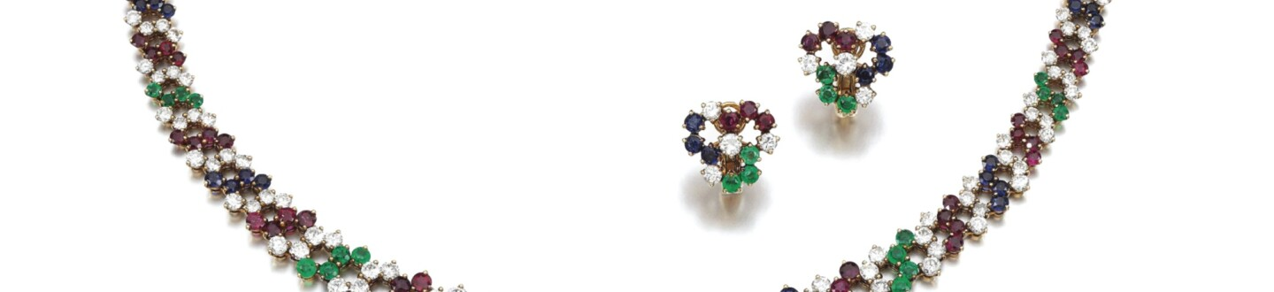 Chaumet gem set and diamond parure, in an auction selling fine jewelry