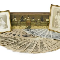 34. [grand duchess olga alexandrovna]two autographed studio photographs, both dated 1912 and signed by the sitter |