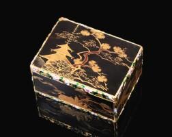 55. 日本鏤空黃金配琺瑯彩漆面鼻煙盒,jean ducrollay,巴黎,1749/1750年製