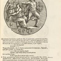 2. agustín, dialoghi ... sopra le medaglie, roma, 1736, pergamena coeva