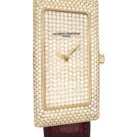 2031. vacheron constantin   pink gold and diamond-set wristwatchref 25510 case823708 1972 cambrée circa 2006