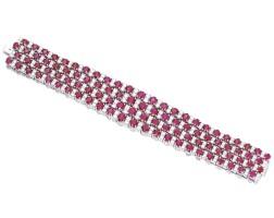1638. 紅寶石配鑽石手鏈